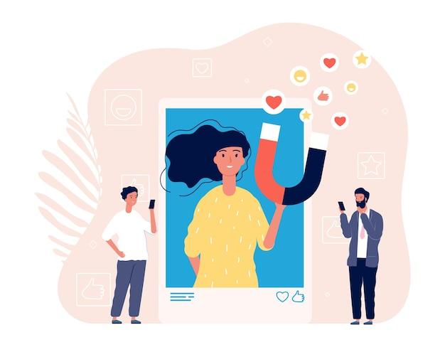 Как зависимость. селфи женщины фото, наркоман социальных сетей. человек любит изображение девушки в смартфоне векторные иллюстрации. социальная зависимость женщины, смартфон фото онлайн
