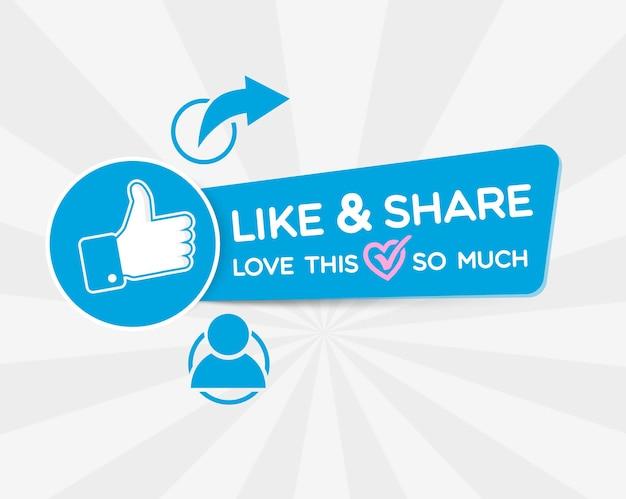 Facebookの投稿バナーデザインを高く評価して共有する