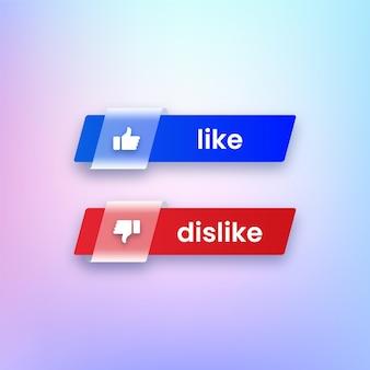 Like and dislike buttons