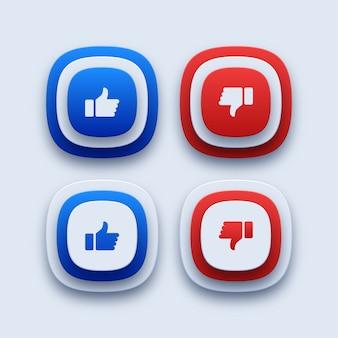 Like and dislike icons