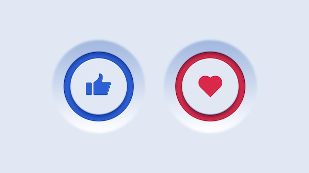 Like and favorite buttons