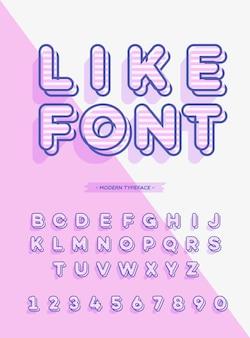 글꼴 3d 스타일 현대 타이포그래피처럼