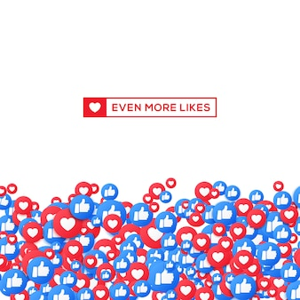 Like and thumb up background for social media.