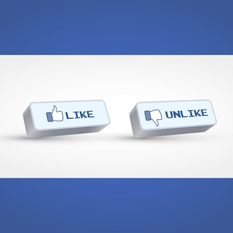 Like and unlike buttons