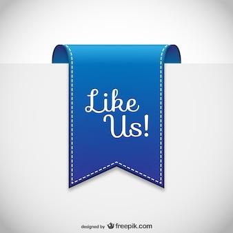 Like us label