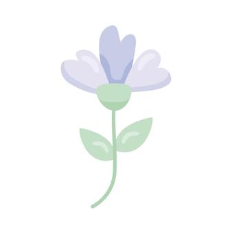 ライラックかわいい花の装飾的なアイコン