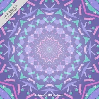 Lilac kaleidoscope background
