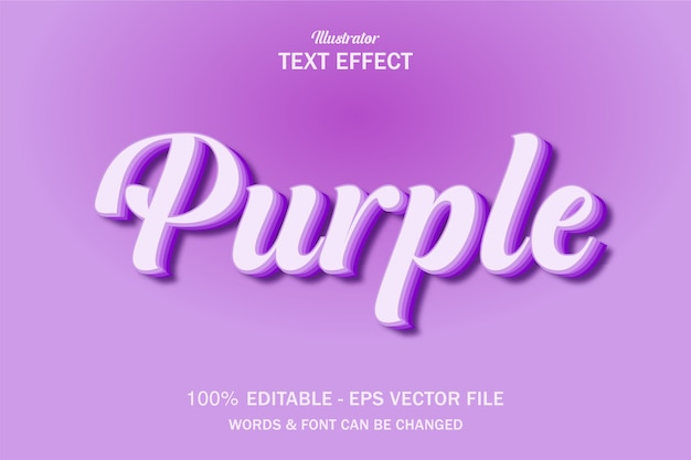 Lilac purple text style effect