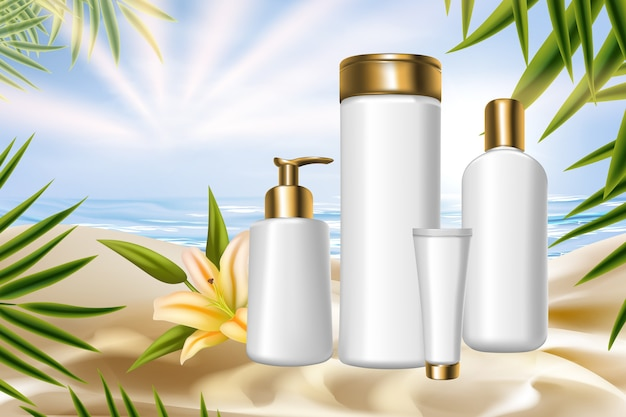 Lily cosmetics упаковка уход за телом терапия лечение косметологический продукт