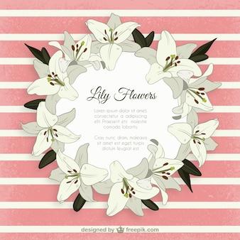 ユリの花のフレーム