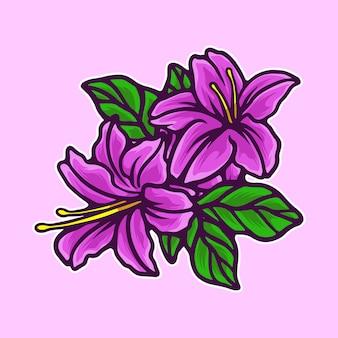 Иллюстрация цветы лилии