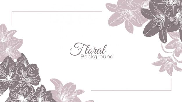 ユリの手描きの花の背景