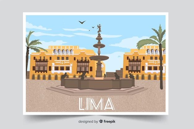 Lima center town background