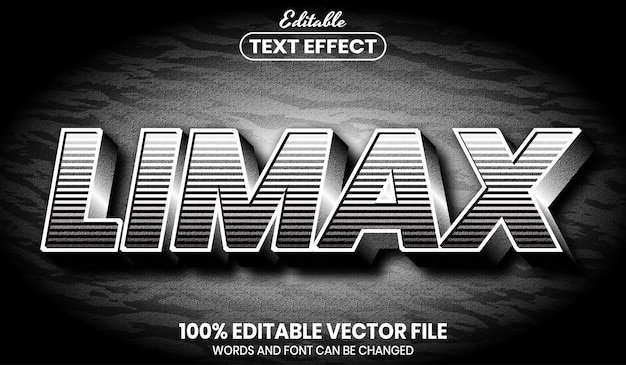 Текст limax, редактируемый текстовый эффект стиля шрифта