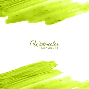 Lime background with watercolors