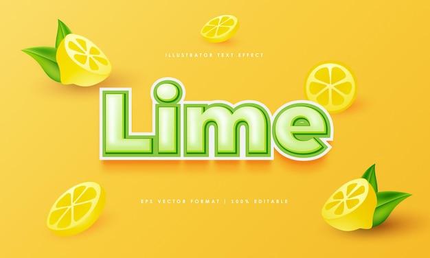 Lime editable text effect with lemon