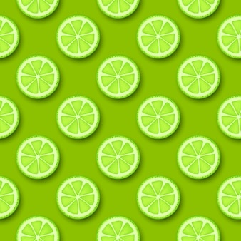 Lime fruit seamless pattern.