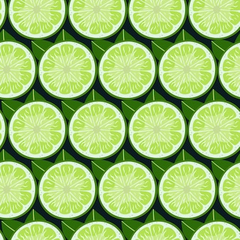 Lime  fruit slices seamless pattern.