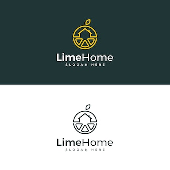 Lime home logo template