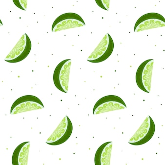 Lime slices seamless pattern.