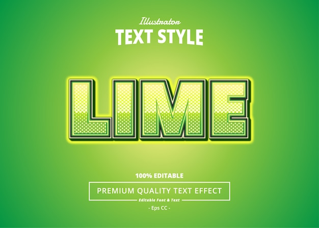 Lime  text effect