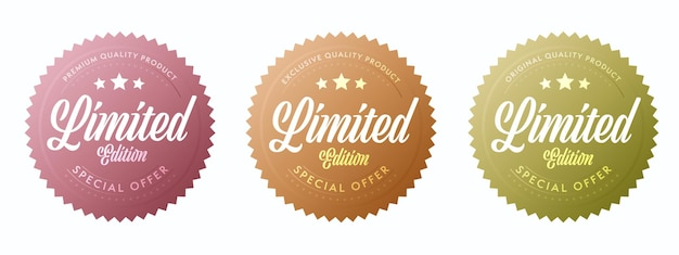Limited edition label for exclusive quality product insignia