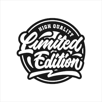 Limited edition lettering stamp