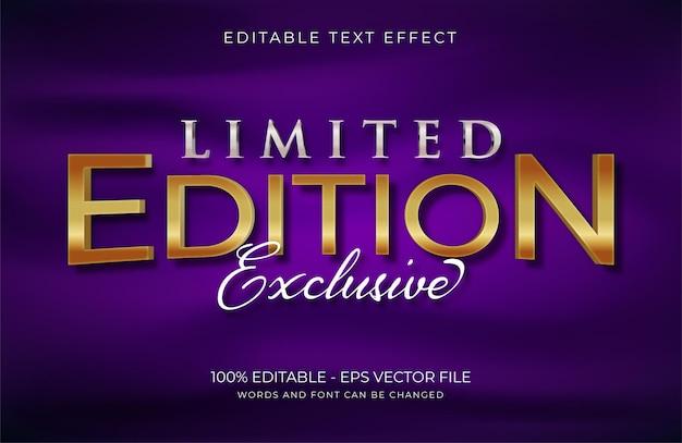 Текстовый эффект limited edition premium векторы
