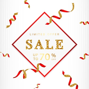 Limited offer 70% off sign vector