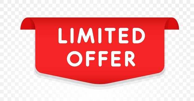 Limited offer/discount/sale web icon template. sale tag design for bussines. product label element.