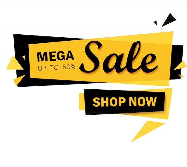 Limited offer mega sale banner. big sale, special offer, discounts