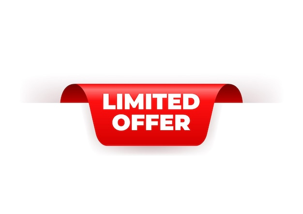 Limited offer red ribbon label.