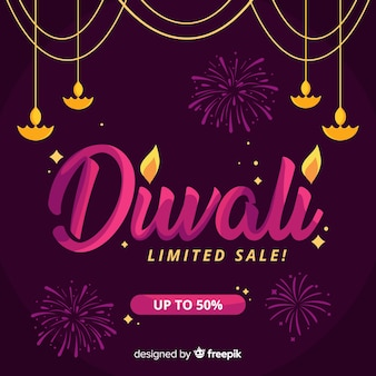 Limited sale diwali holiday banner
