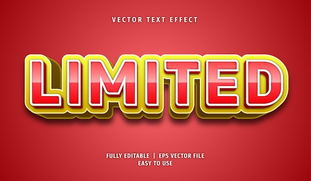 Limited text effect, editable text style