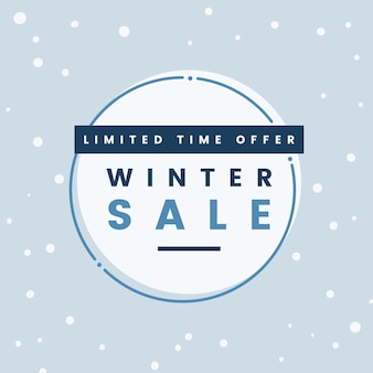 Limited time offer winter sale vector