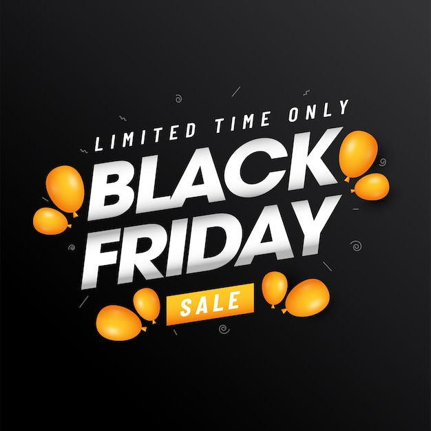 Limited time only black friday sale text