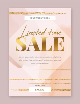 Limited time sale flyer template