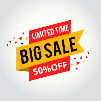 Limited time sale tag, big sale tag