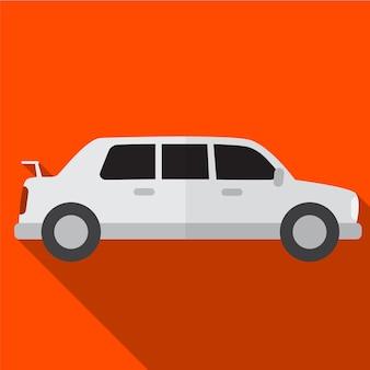 Лимузин плоский значок иллюстрации изолированных вектор знак символ