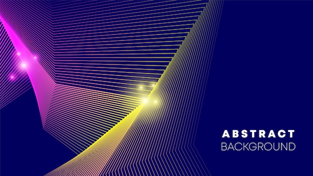 Line abstract background vector illustration