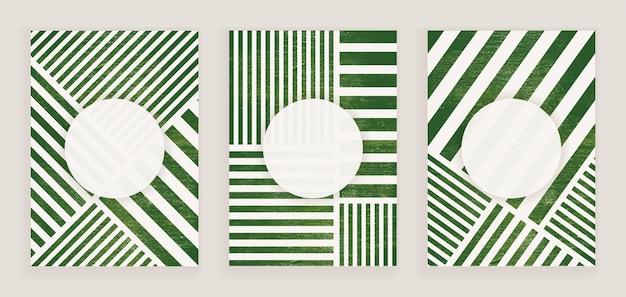 라인 추상 고민된 페인트 포스터 아트 인쇄