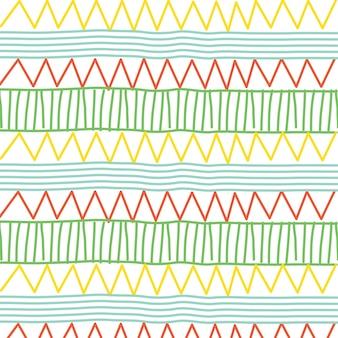 線とジグザグのパターン