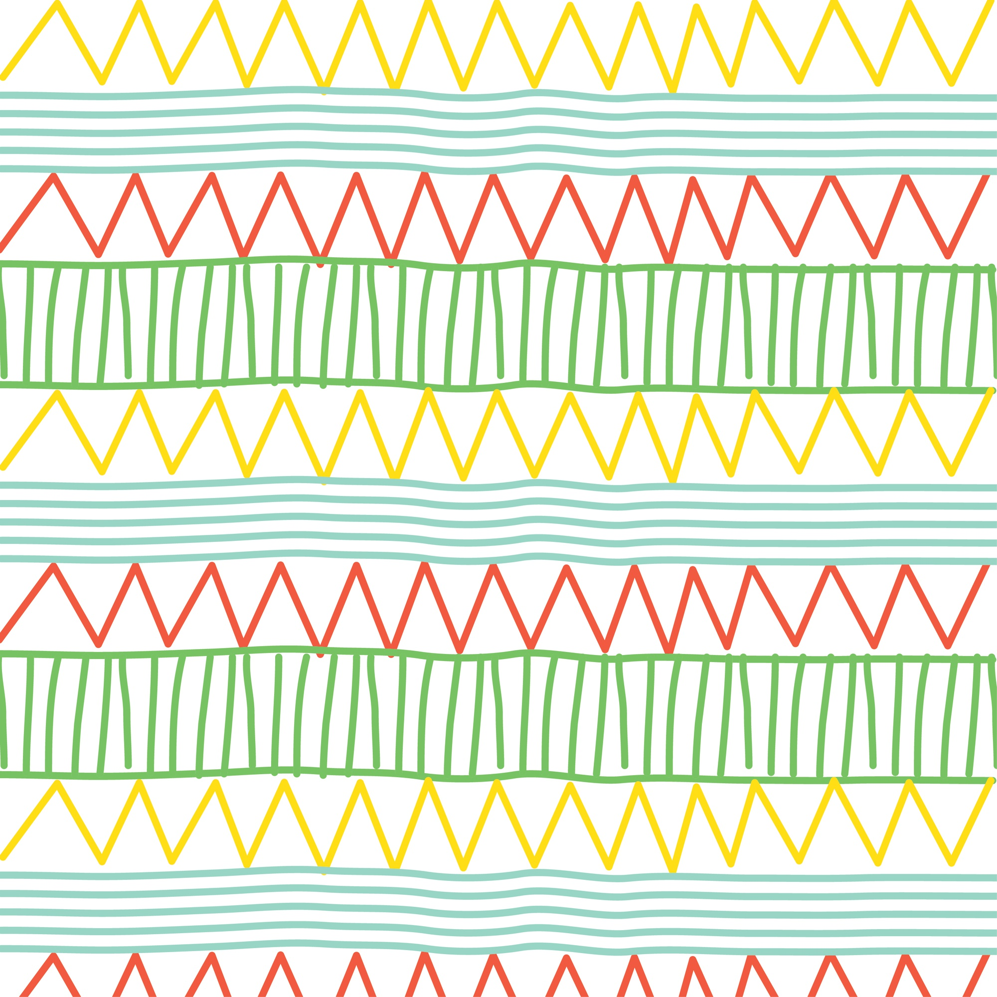 Line and zigzag pattern