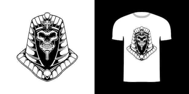 Tshirt 디자인을 위한 라인 아트 아누비스