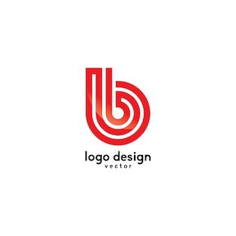 Line art b symbol logo template vector