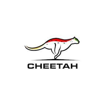 Line art cheetah logo