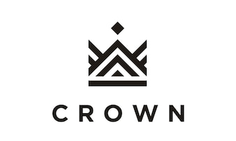 Line Art Crown / Royal logo design
