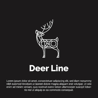 Line art deer logo