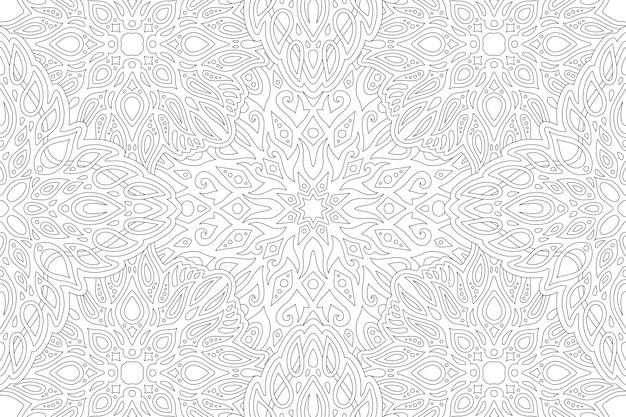 Штриховая графика для раскраски с винтажным узором