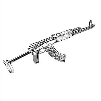 Лайн арт пистолет акм 74 тактик